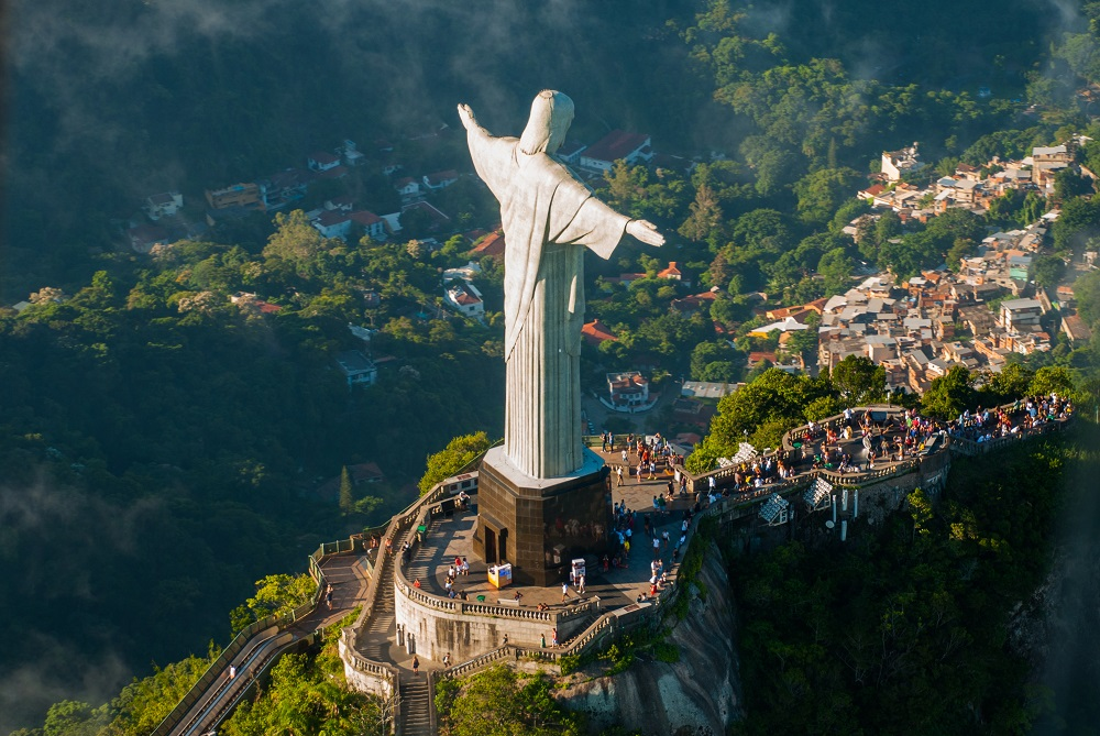 The iconic Christ the Redeemer statue overlooking Rio