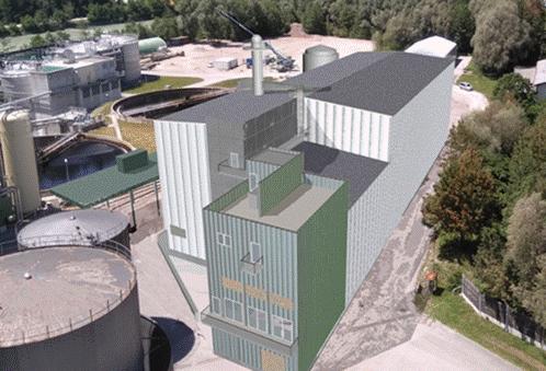 AustroCel's bioethanol plant is under construction in Hallein, Austria,