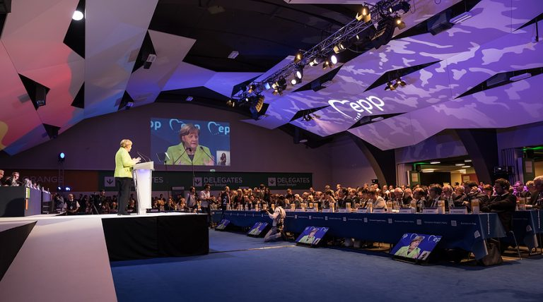 Angela Merkel on stage