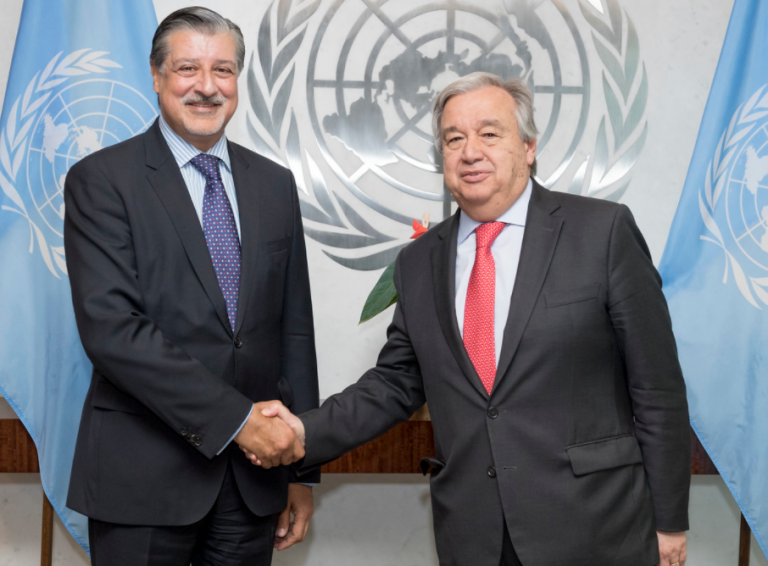 The meeting between the UN secretary general and IRENA