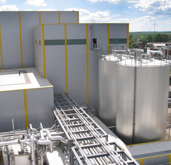 Fuel ethanol plant of CropEnergies in Zeitz, Germany.