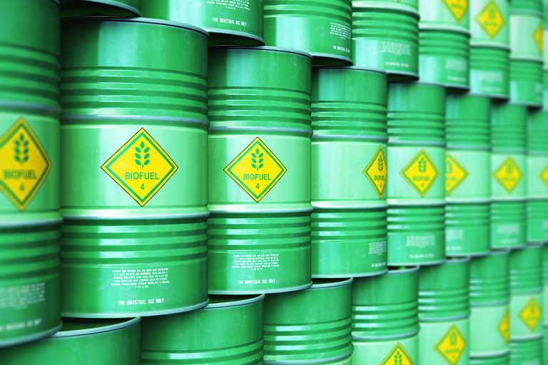 Drums of biofuel