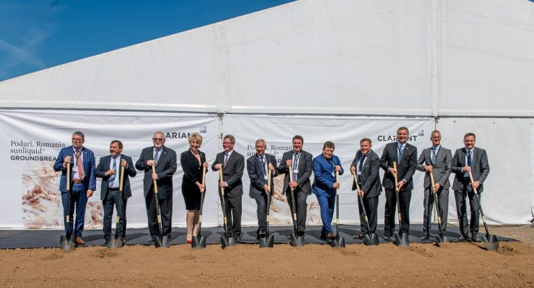 The ground-breaking ceremony