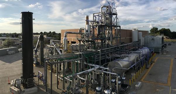 Alterra's industrial-scale waste plastics liquefaction unit in Akron, Ohio